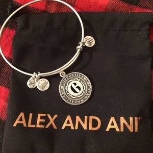 Alex and Ani Life Path Number 6 Silver Bracelet